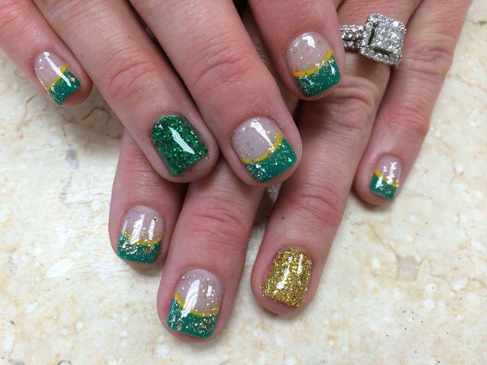 Green Bay Packer nails   Nails   Pinterest   Packer nails, Packers ...