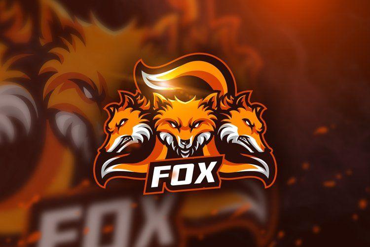 Fox Mascot Esport Logo 317369 Logos Design Bundles In 2021 Fox Logo Fox Logo Design Fox