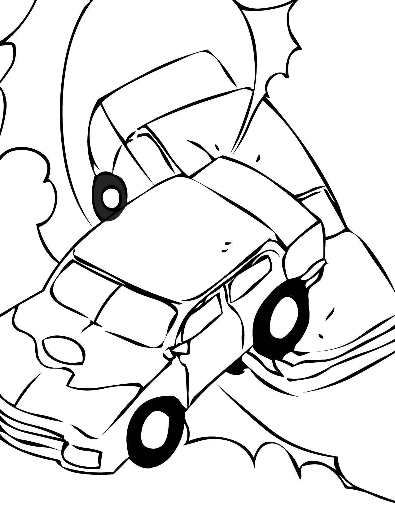 Coloring derby cars - Demolition Derby Cars Coloring Pages By Anthony