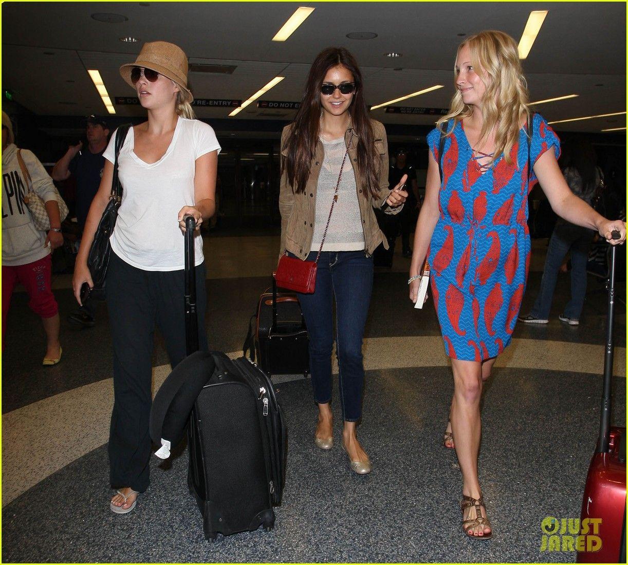 Nina Dobrev: Jet Setting with 'Vampire Diaries' Cast!