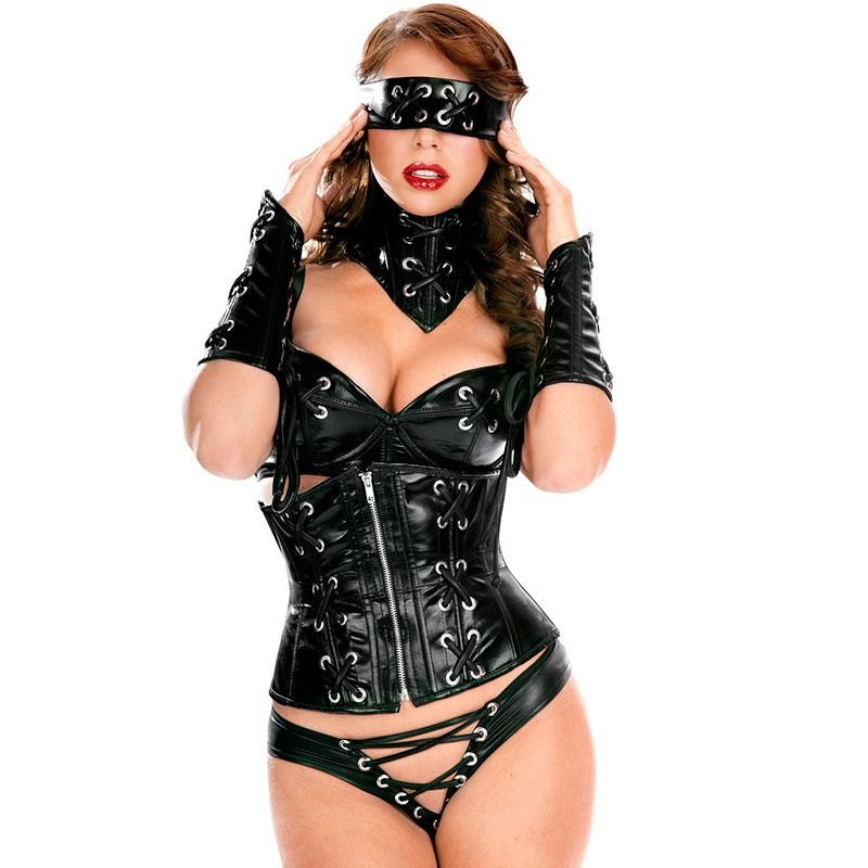 High quality leather lingerie