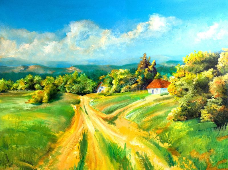 Summer Landscapes Summer Scene Of Landscapes This Is Oil Painting And I Am Aut Ad Scene Landscapes Summer Summer Landscape Landscape Summer Scenes