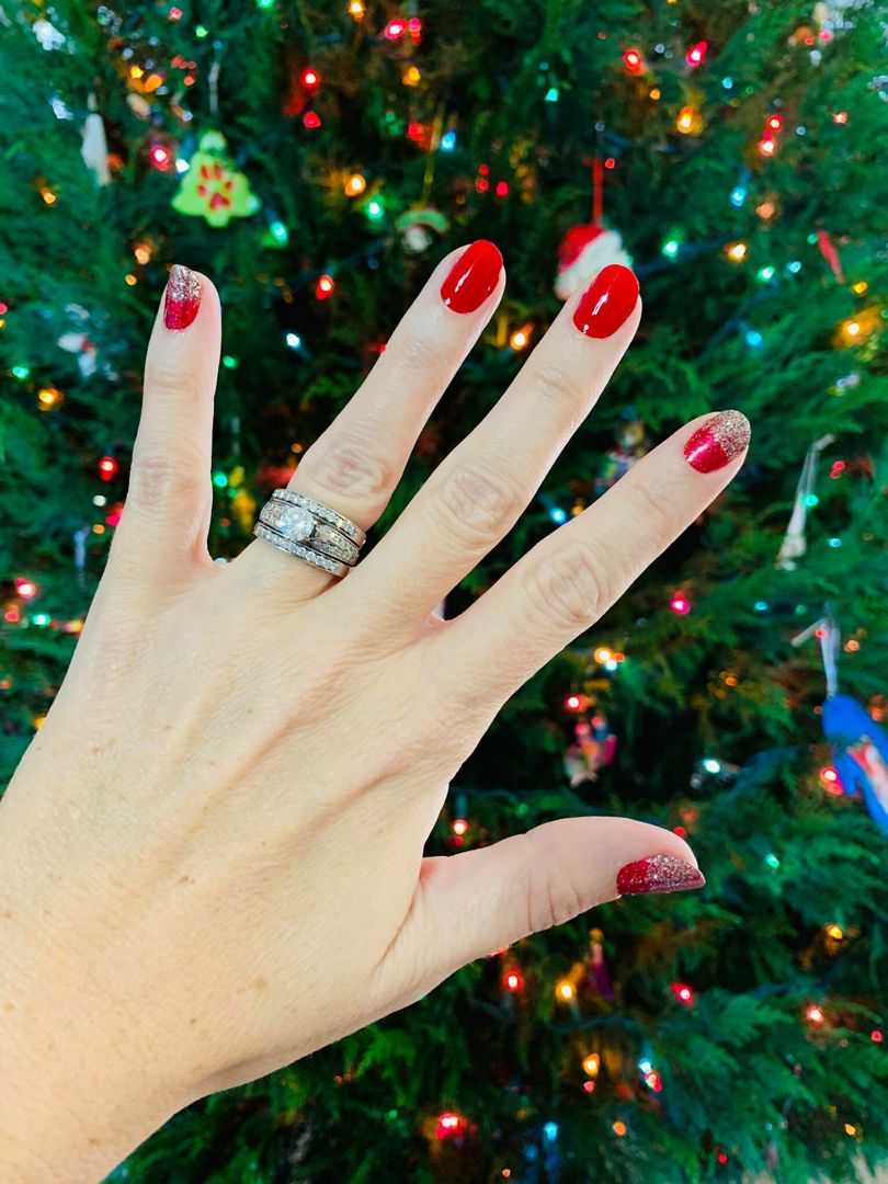 Red Christmas Nails Without The Mess Color Street Beijing Beauty And Poinsettia Trendsetta No