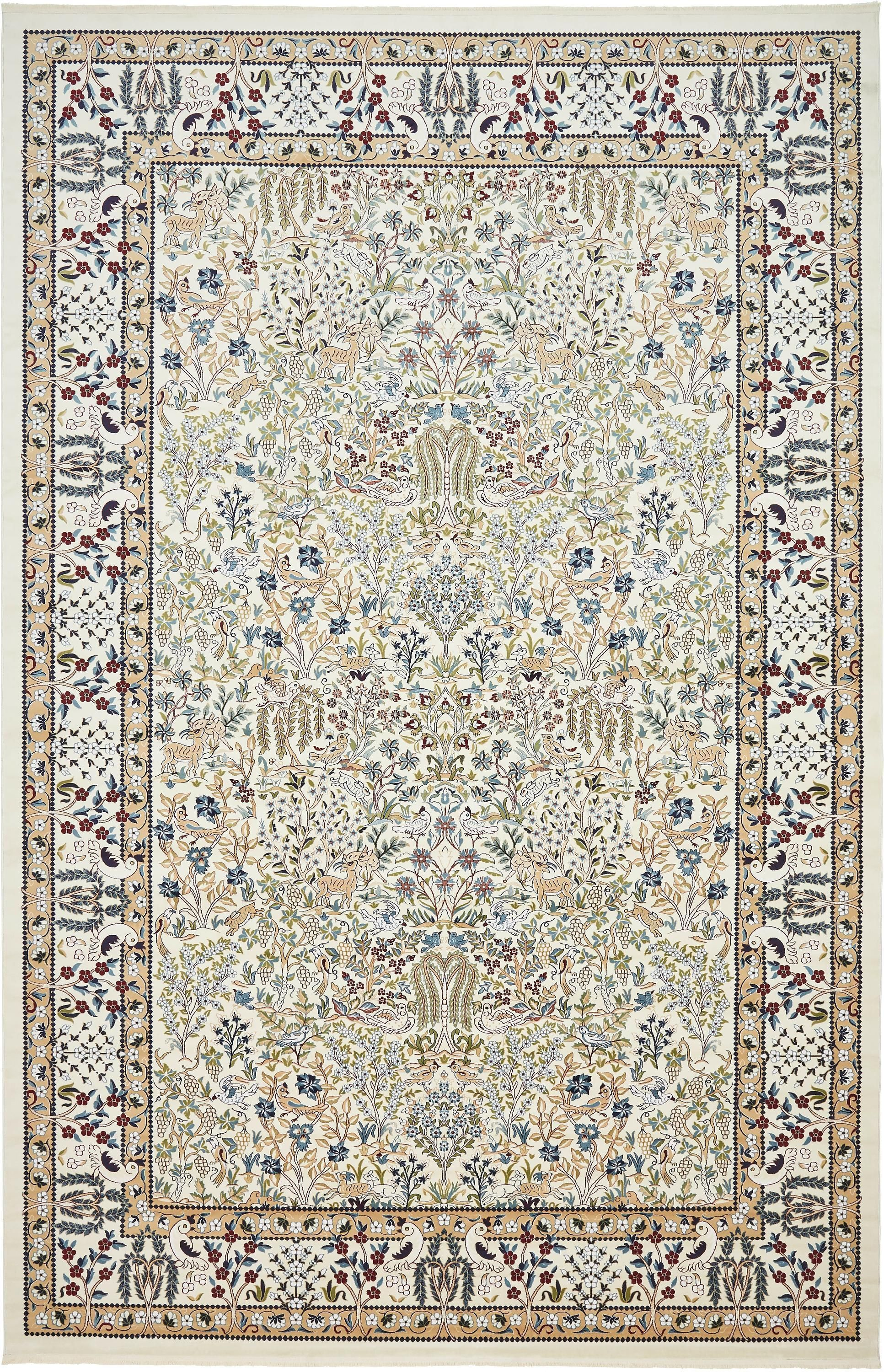 Ivory 13 X 19 8 Nain Design Rug Area Rugs Esalerugs With
