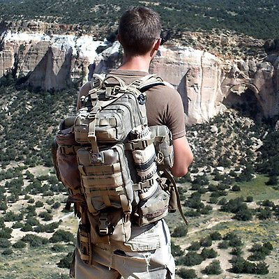 Falcon-II Orange Tactical Outdoor Backpack, Maxpedition Hike Camp Hunt Day Pack