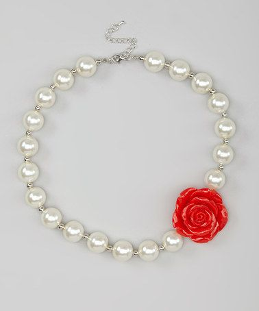 Another great find on #zulily! Red Rose Gia Necklace by Pickles + Posey #zulilyfinds