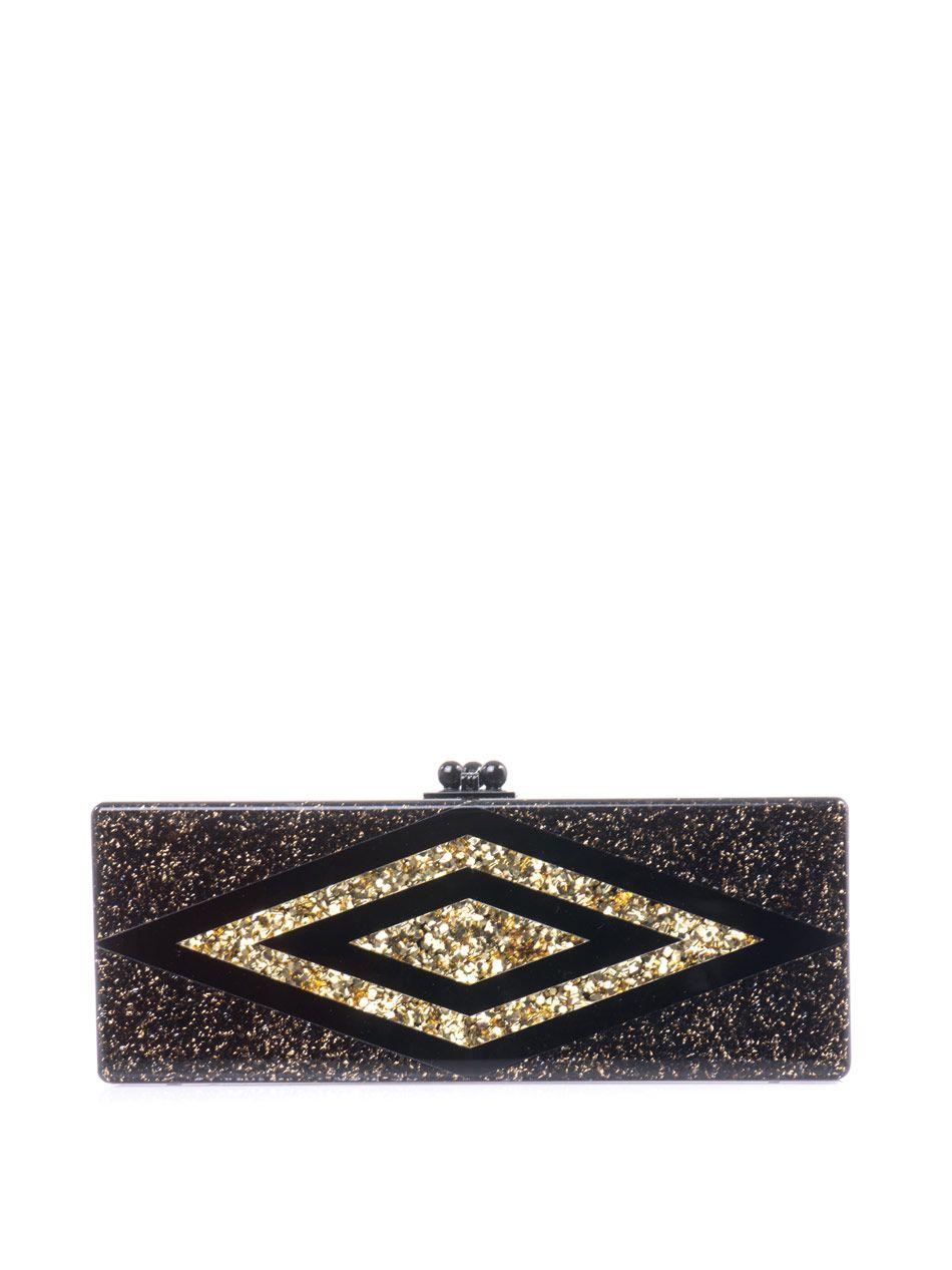 Flavia diamond box clutch | Edie Parker | MATCHESFASHION