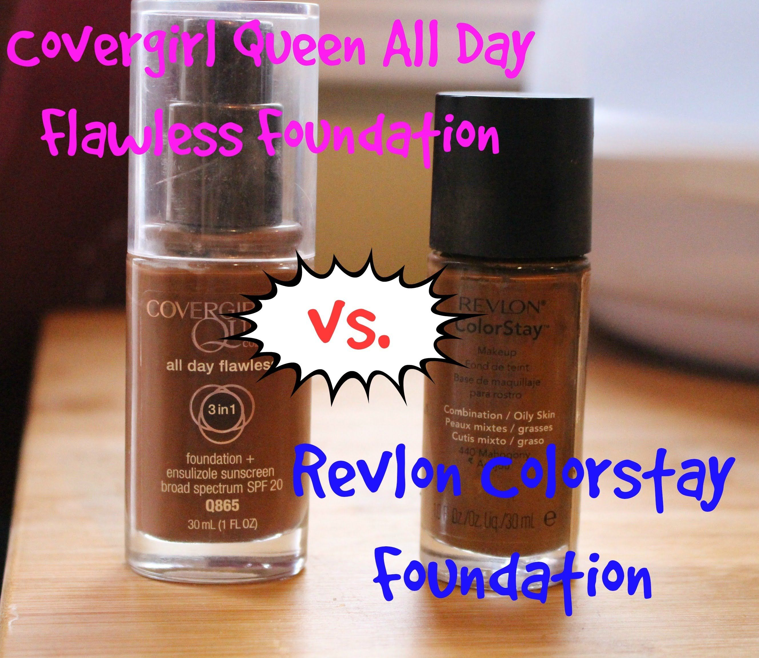 Best Full Coverage Foundation: Revlon Colorstay Foundation vs ...