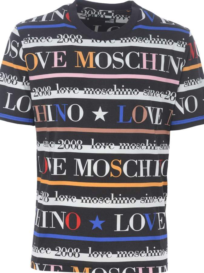 Love Moschino Logo Print T Shirt Shirts Clothing Logo Love Moschino