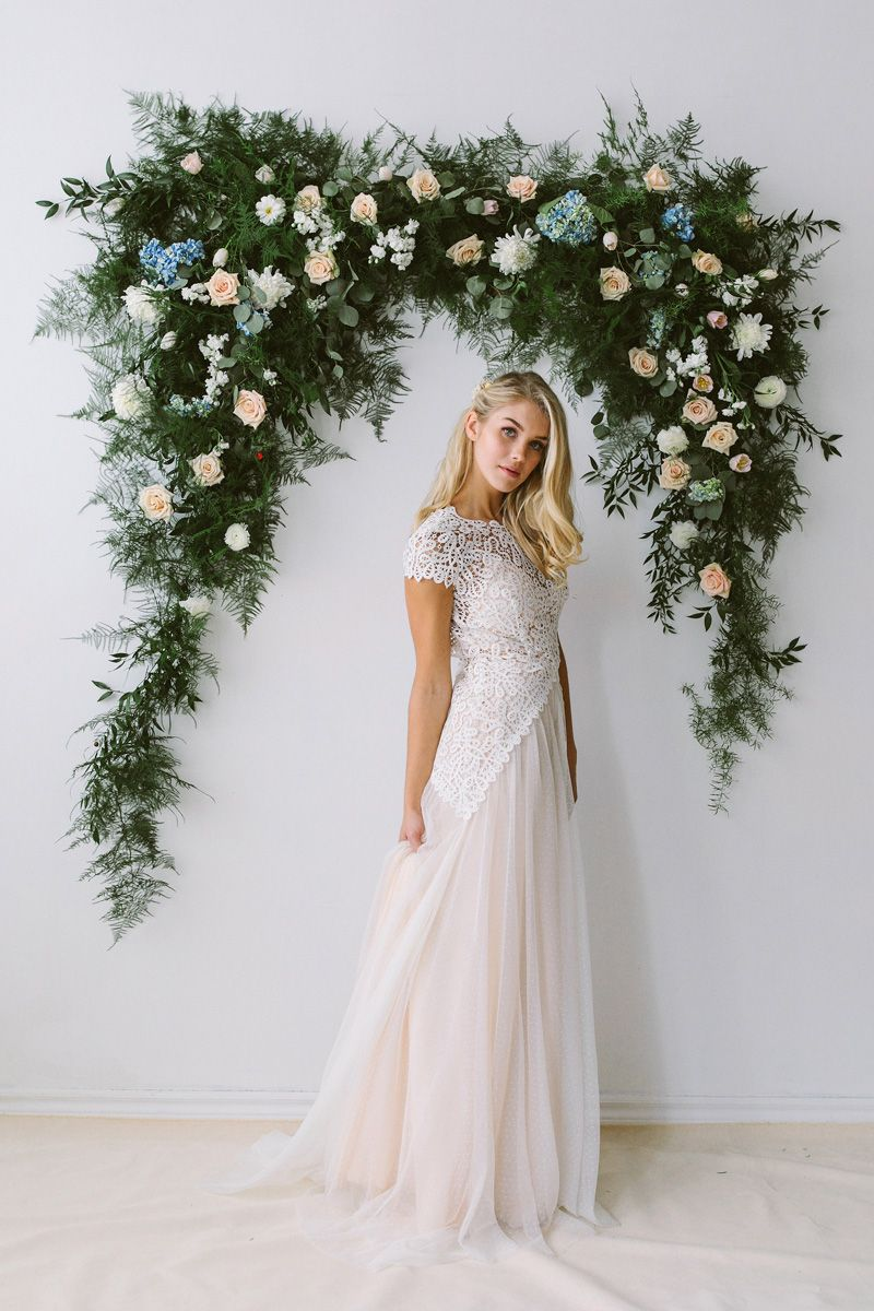 abigail of gardenia wedding dress with short sleeves | to be wed