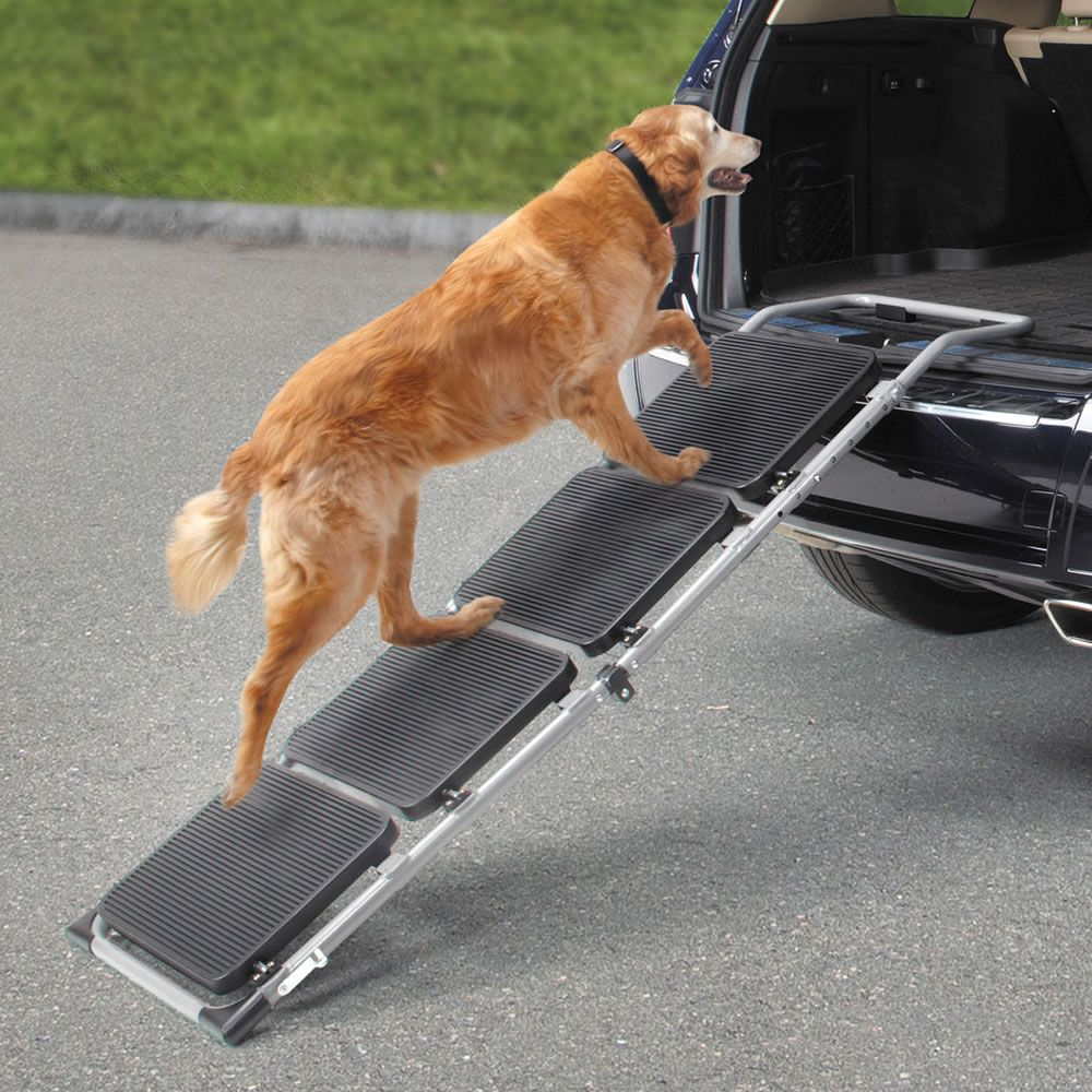The Portable Pet Staircase or Ramp Hammacher Schlemmer