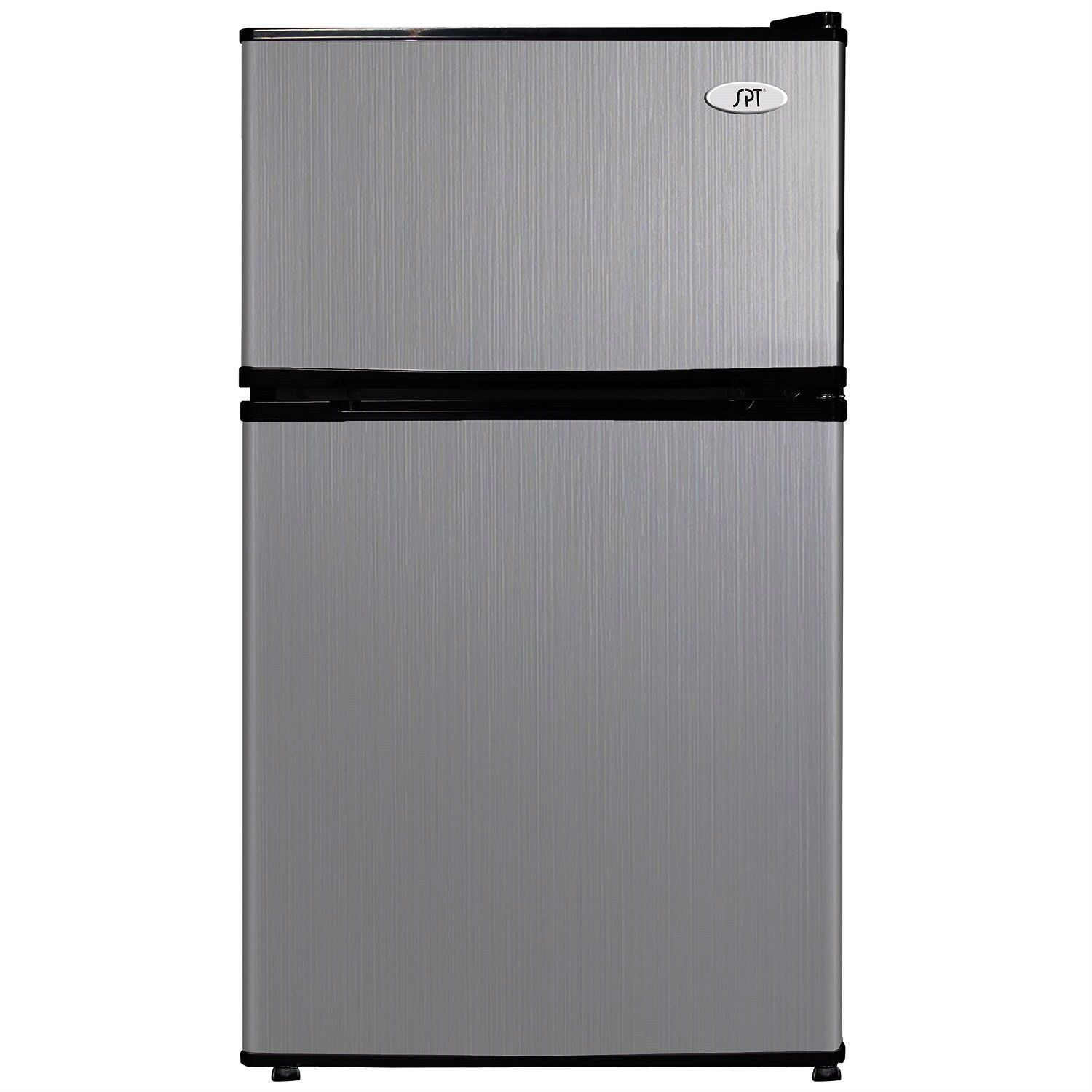 3 1 Cubic Foot Double Door Stainless Steel Refrigerator With