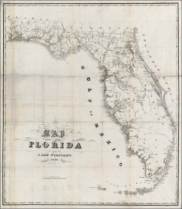 Seminole Florida Map.Florida Map By John Lee Williams 1837 Seminole War Images