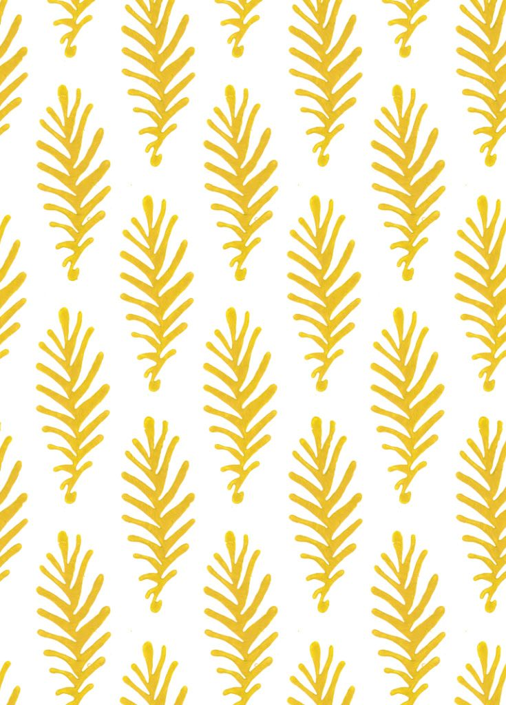Don't Leave Me in Saffron (yellow) | Hand Block Printed