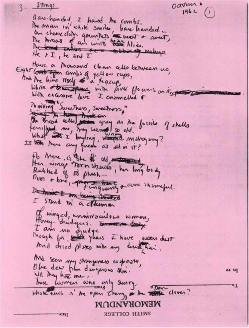 Manuscript Yeah Sylvia Plath Mirror Poems The Bell Jar Essays Essay