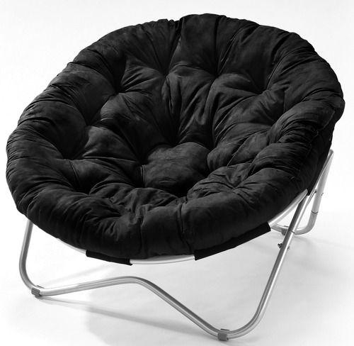 Large Oval Papasan Chair With Black Cushion Papasan