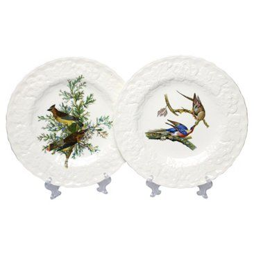 Check out this item at One Kings Lane! Meakin Bird Plates, Pair