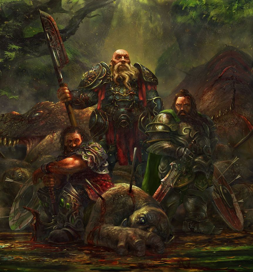 Dwarves - final version by Grosnez on deviantART