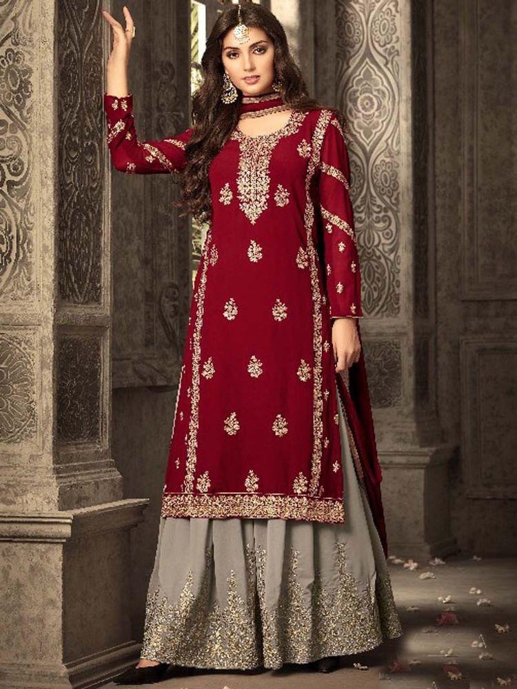 5765cce106 #Indian #ethnic#embroidery #Design #Party wear #Designer #Plazzo #Salwar  #Punjabi Suit #Indian #SalwarKameez