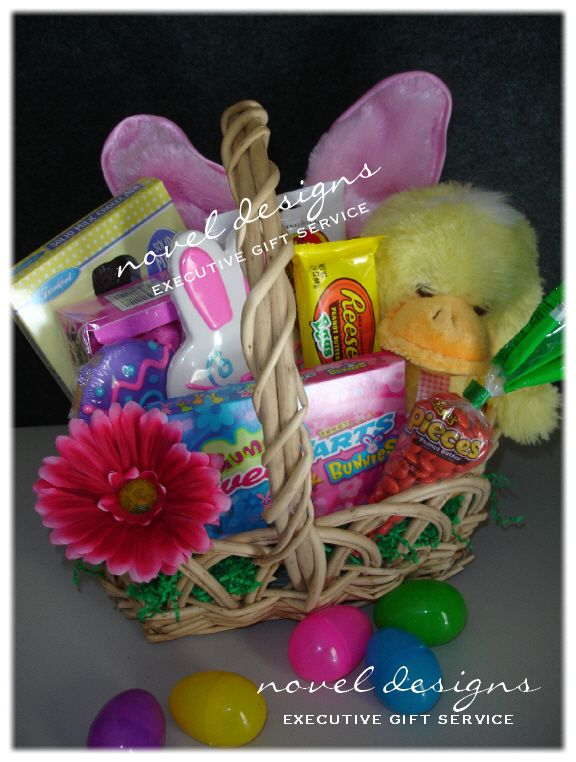 Custom kids easter gift basket designed by novel designs executive custom kids easter gift basket designed by novel designs executive gift service of las vegas negle Choice Image