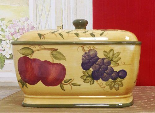 Tuscan Mixed Fruit Collection Deluxe Hand Painted Toast Bread Box Jar 88475 By Ack Ack Http Www Amazon Com Dp B00g Ceramic Bread Box Mixed Fruit Bread Boxes