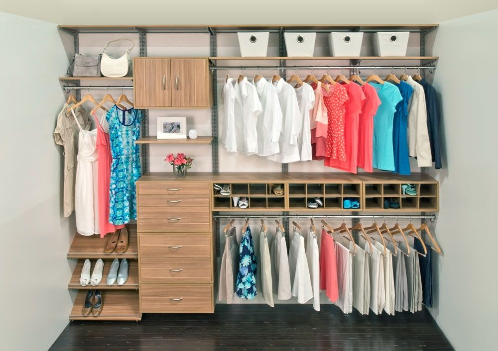 Wall Mounted Reach In Closet System. Completely Modular And Interchangeable.