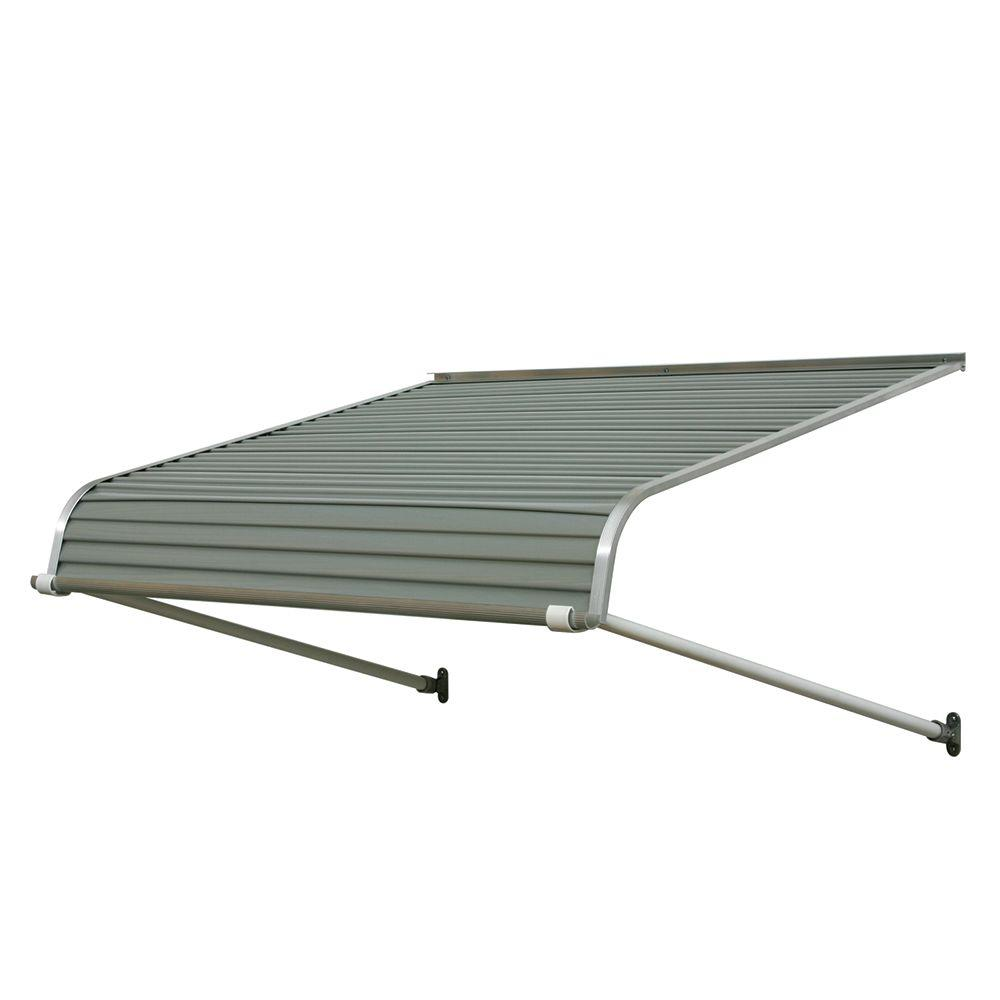 Nuimage Awnings 8 Ft 1100 Series Door Canopy Aluminum Awning 16 In H X 42 In D In Graystone Gray Aluminum Awnings Aluminium Doors Door Canopy