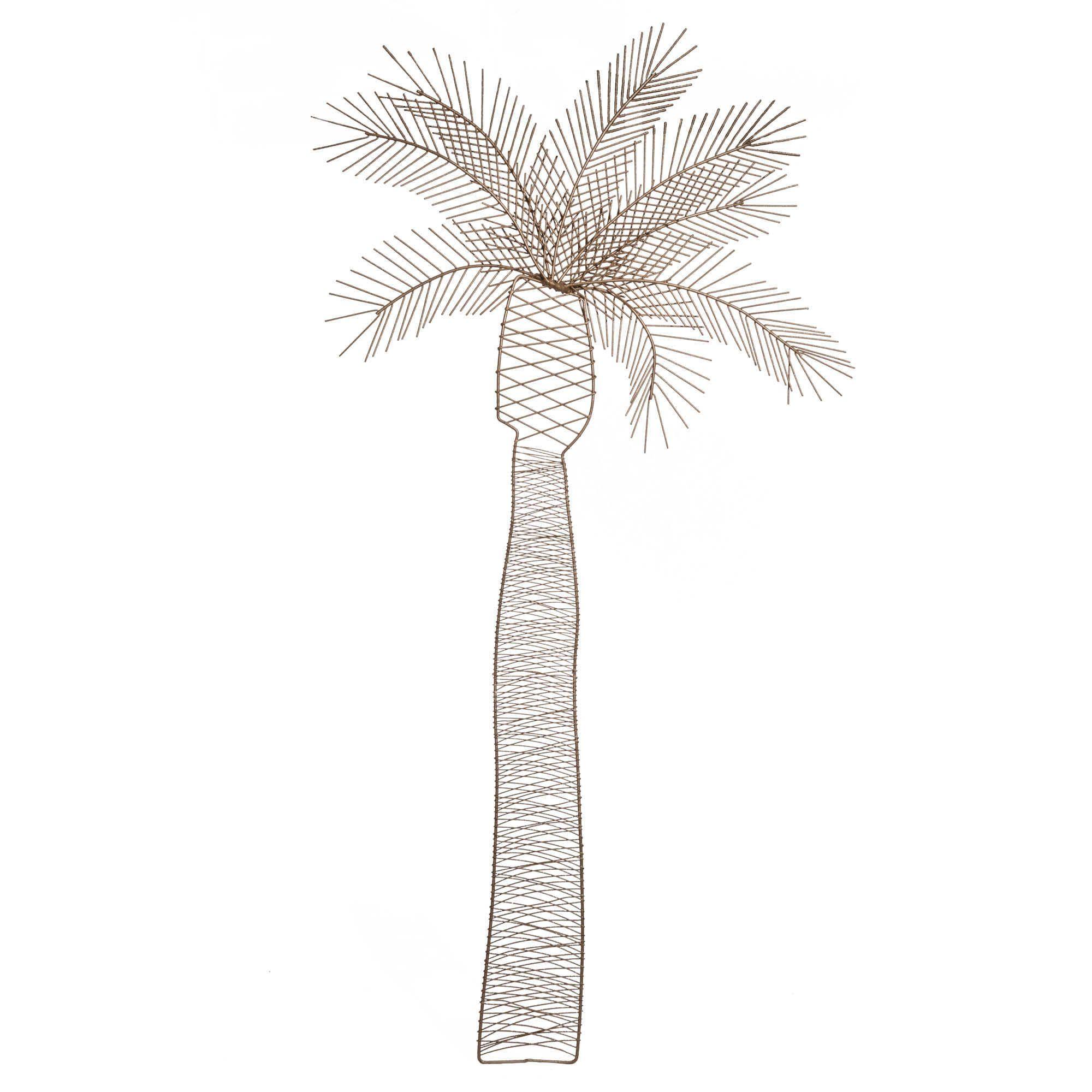 d co murale palmier en fil de m tal dor palm tree. Black Bedroom Furniture Sets. Home Design Ideas
