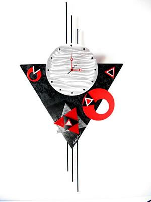 Shapes Metal Wall Clock Clock Contemporary Art
