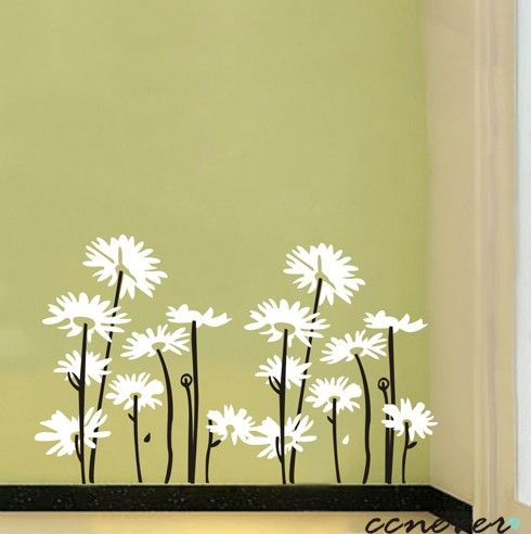 2sets daisy flowers----Removable Graphic Art wall decals stickers ...