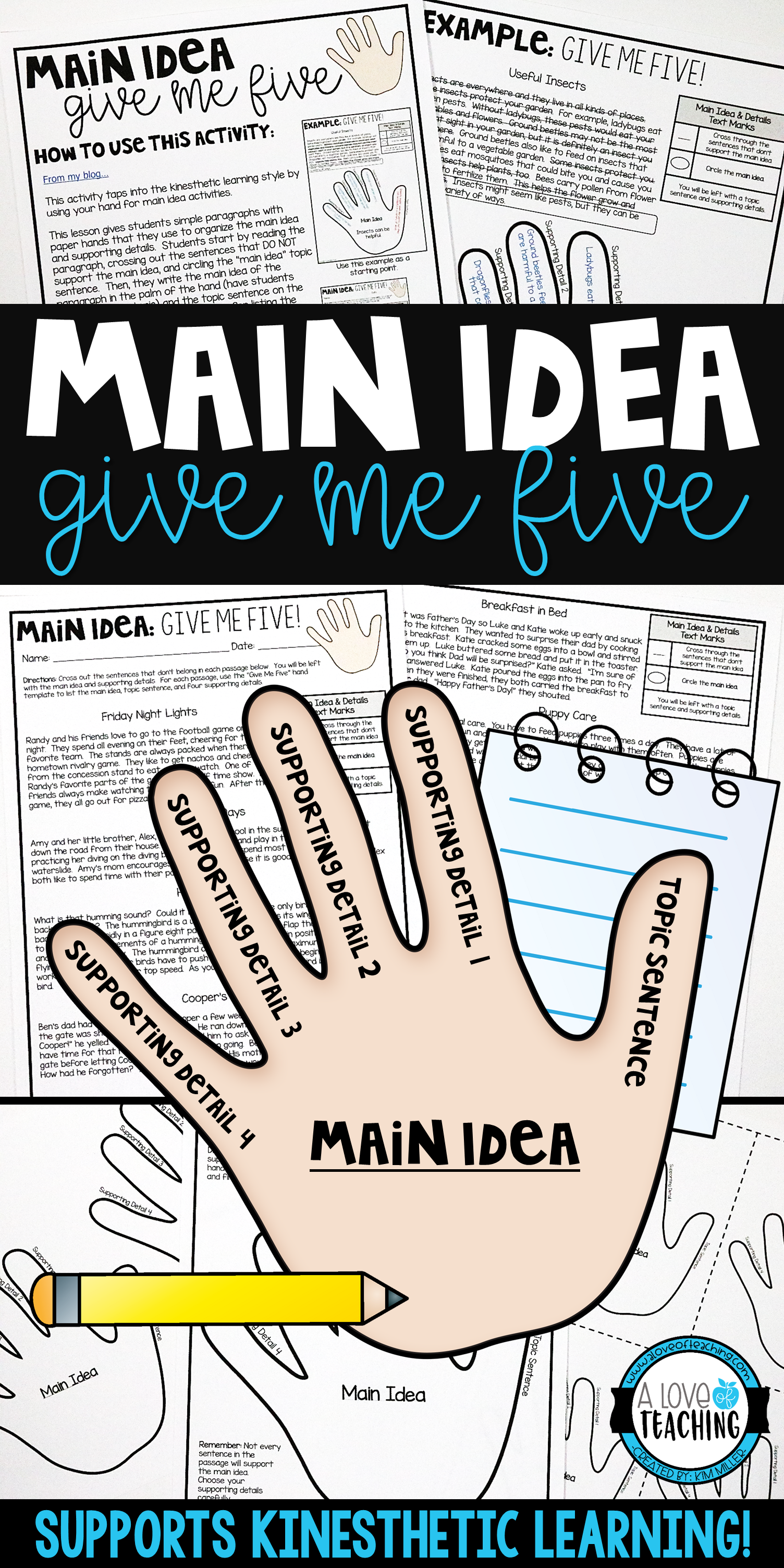 Main Idea Worksheets Hands On Activities And Practice