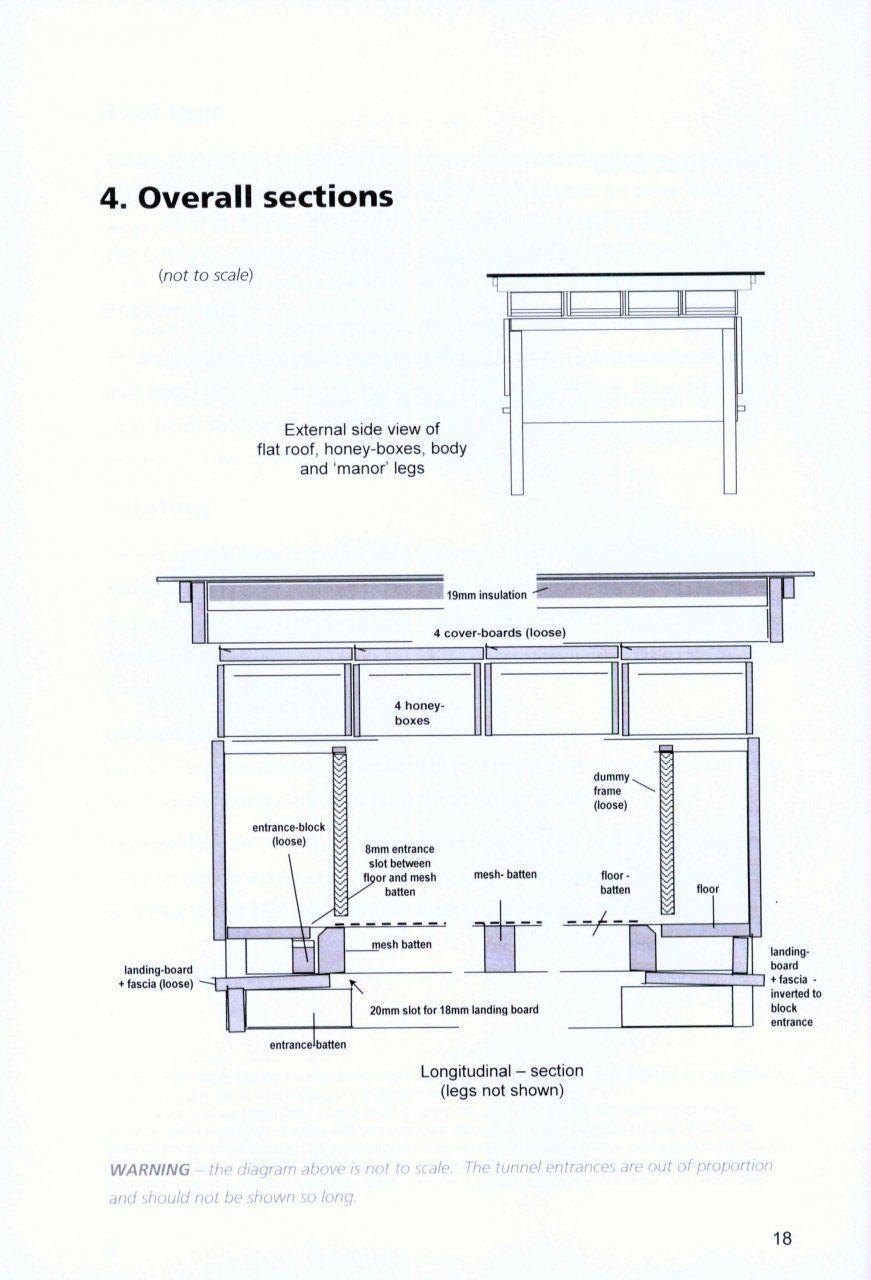 construction information for dartington hives robin dartington nhbs bee book top bar hive [ 871 x 1280 Pixel ]