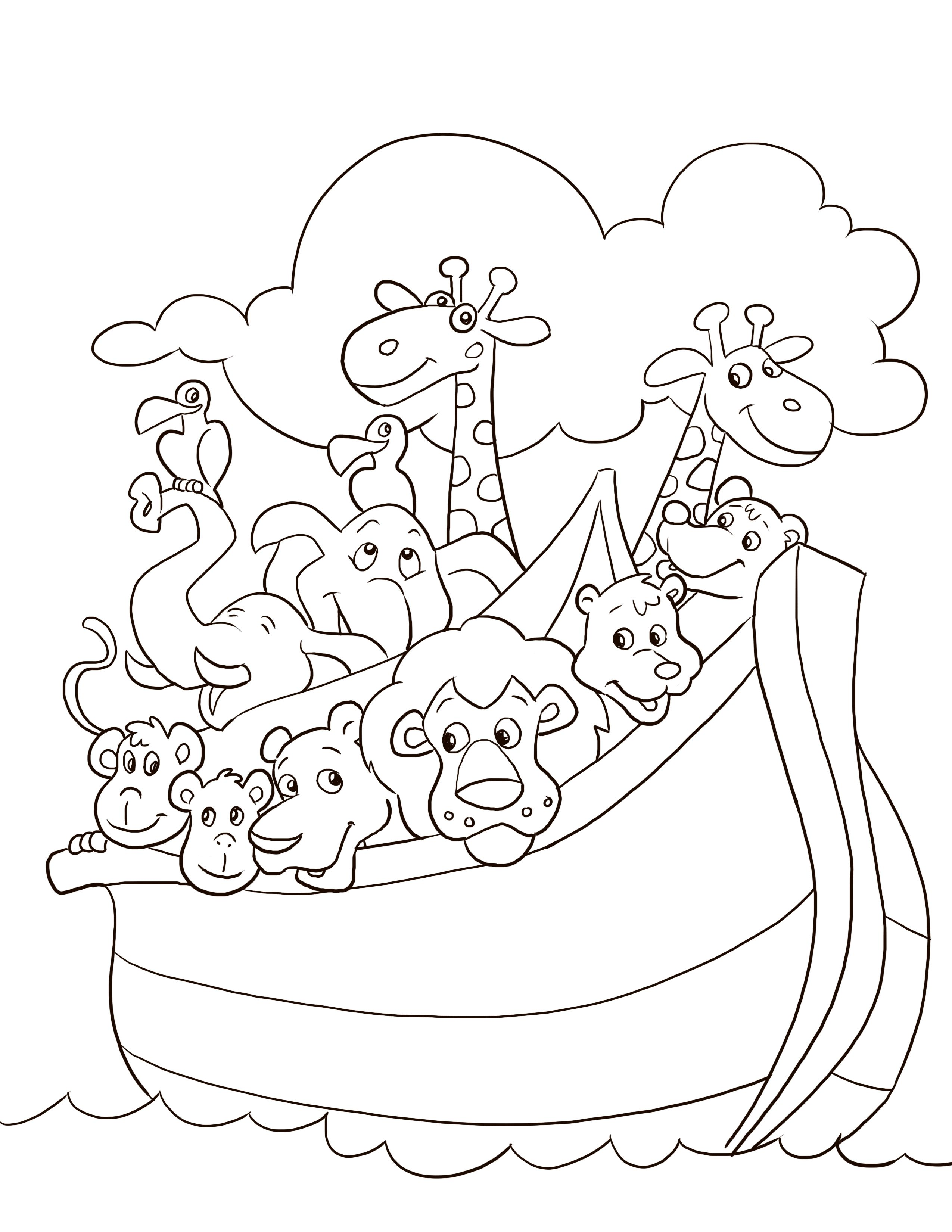 Noah Ark Coloring Pages Free Coloring Pages Download | Xsibe noah s ...