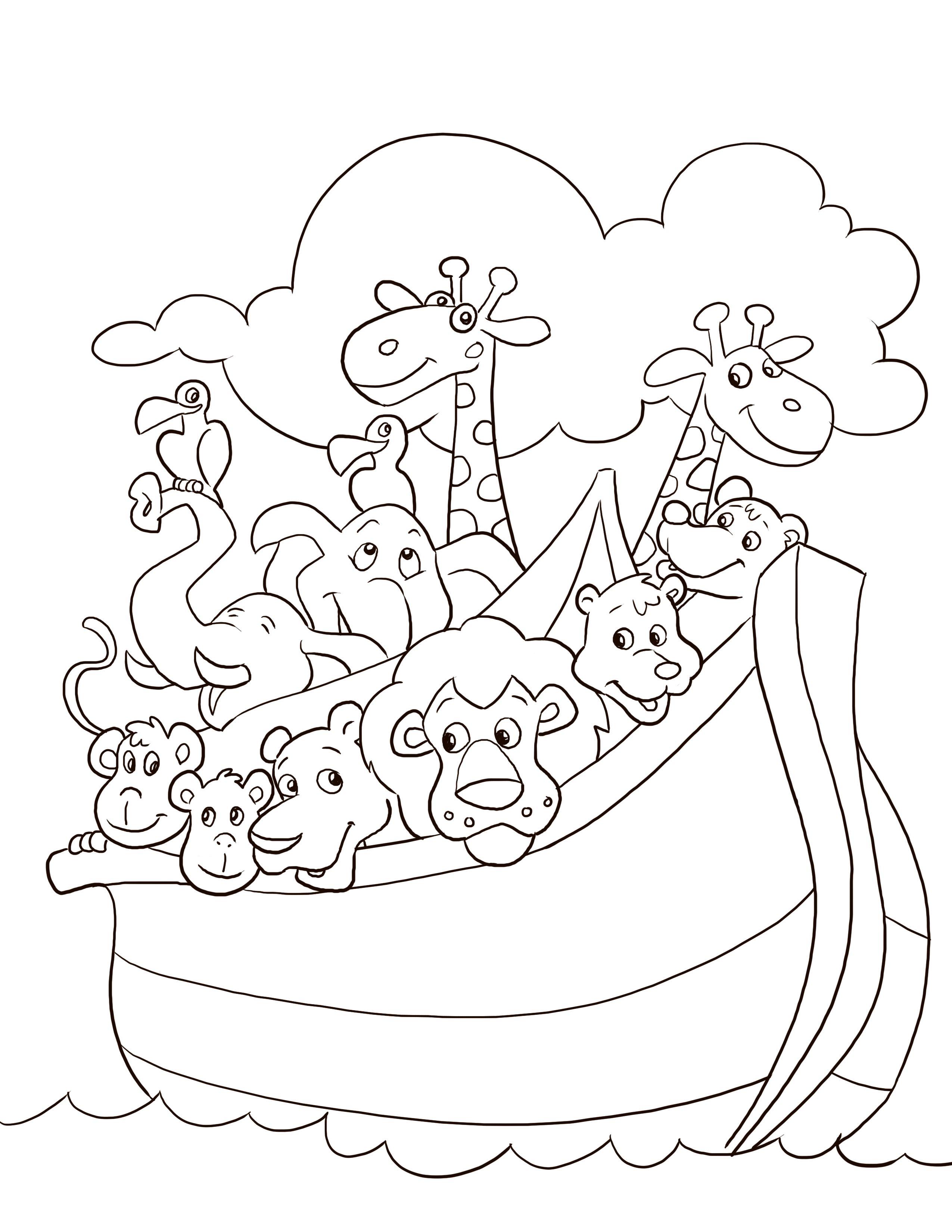 Noah S Ark Coloring Page Desenhos Biblicos Para Colorir Arca De