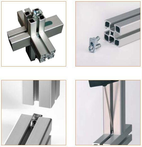 Uniones Minitec Tear Away T Slotted Aluminum Perfiles De Aluminio Aluminio Perfiles