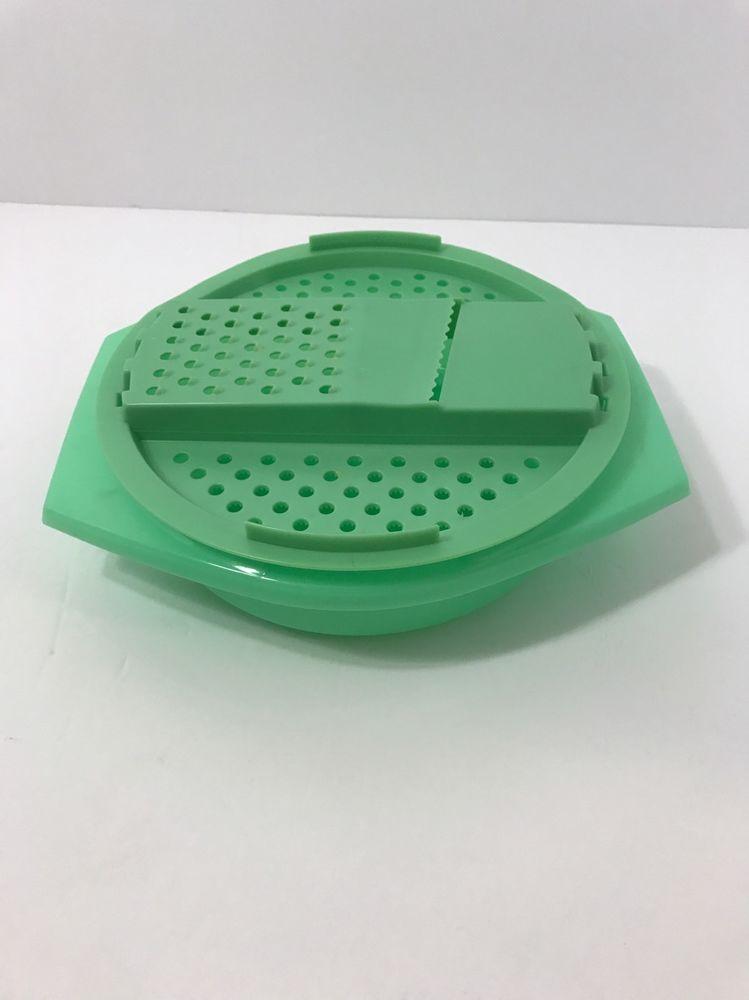 Vintage Tupperware Jadite Green Shredder Grater Bowl Lid Vintage Tupperware Tupperware Tupperware Bowls