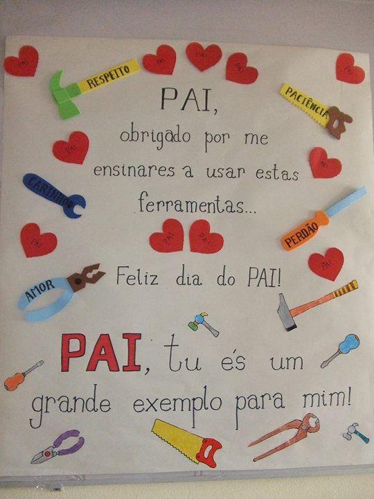 Extremamente Cartaz pai | Dia dos pais | Pinterest | Babalar günü ve Babalar QX16