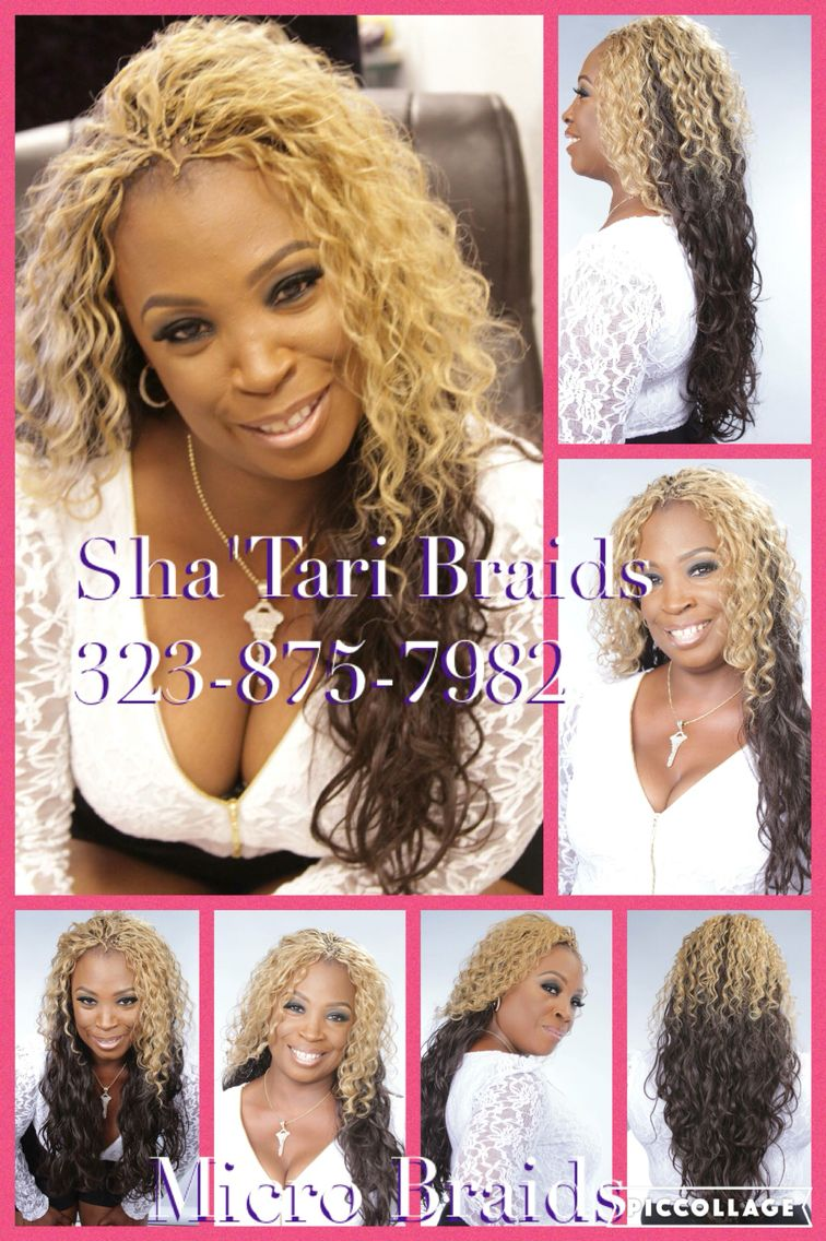 two tone blonde deep wavy | micro braids styles, braided