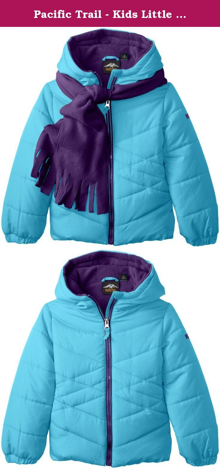 Pacific Trail Kids Little Girls Solid Puffer Coat With