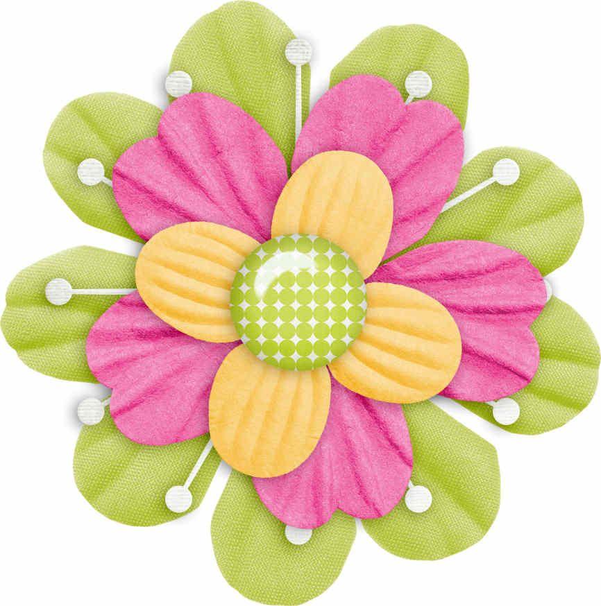 Flores | Scrapbook flowers, Flower clipart, Clip art