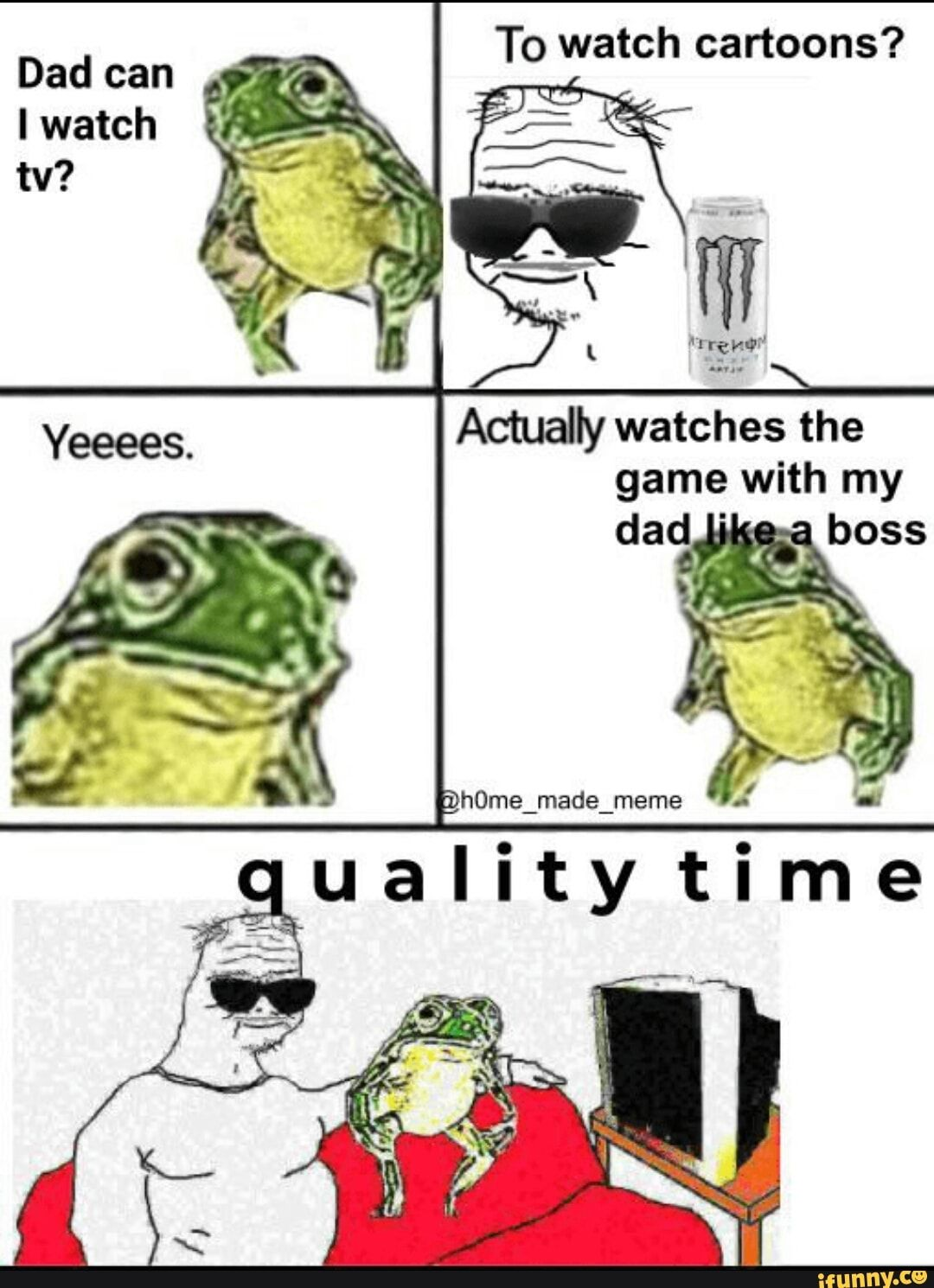 To Watch Cartoons Actually Watches The Game With My Dad Ifunny Memes Sarcastic Funny Memes Images Watch Cartoons