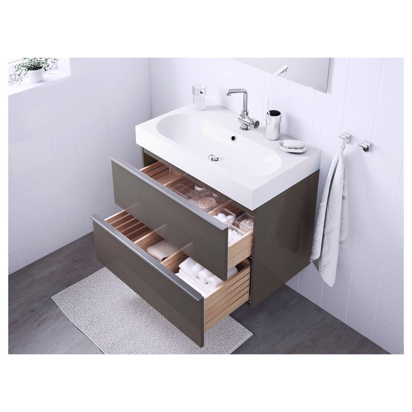 Ikea Godmorgon Braviken Waschbeckenschrank 2 Schubl Mit