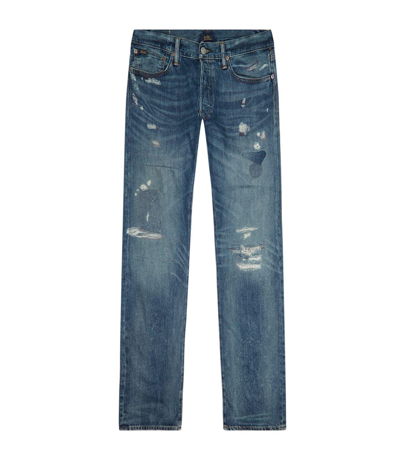 Polo ralph lauren varick slimfit distressed jeans