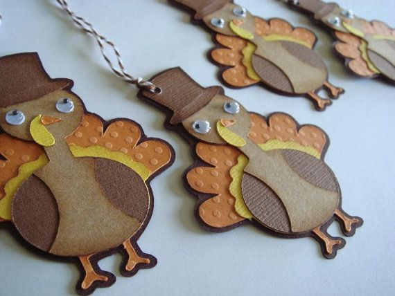 Thanksgiving Gift Tags, Turkey Gift Tags, Thank You, Holiday Tags, Gobble till you Wobble,