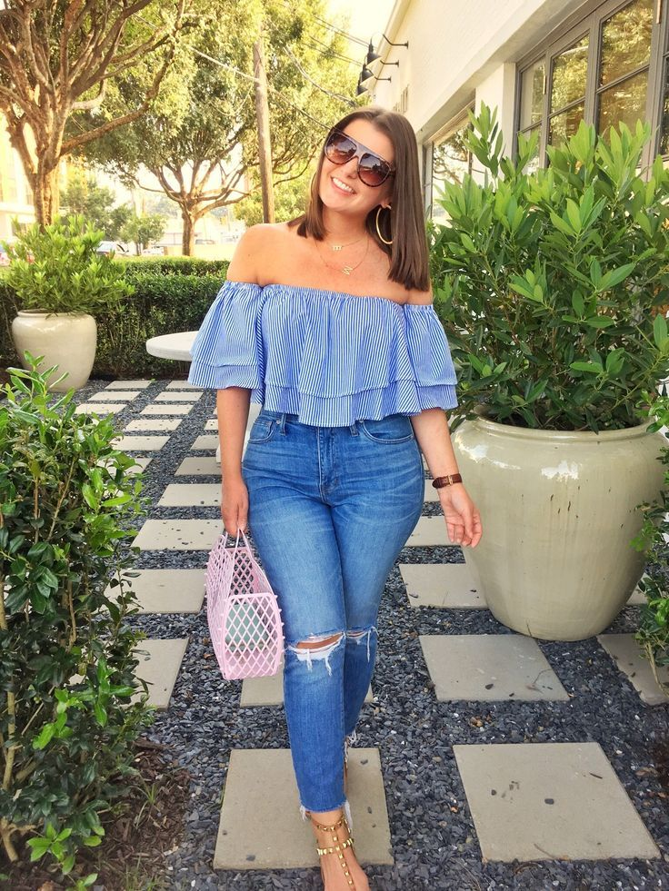 Photo of Summer Fashion: OTS Ruffle Top and Denim • Julia Marie B