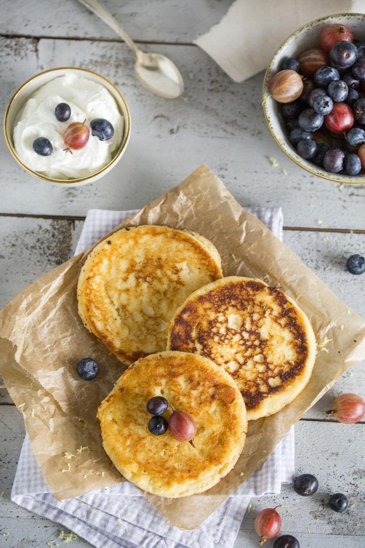 Low Carb Pfannkuchen mit Quark   - Rezepte -