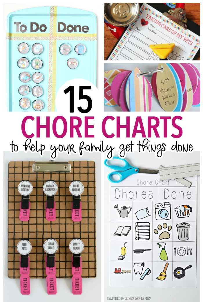 15 Chore Charts to Help Your Family Get Things Done BEST of KIDS