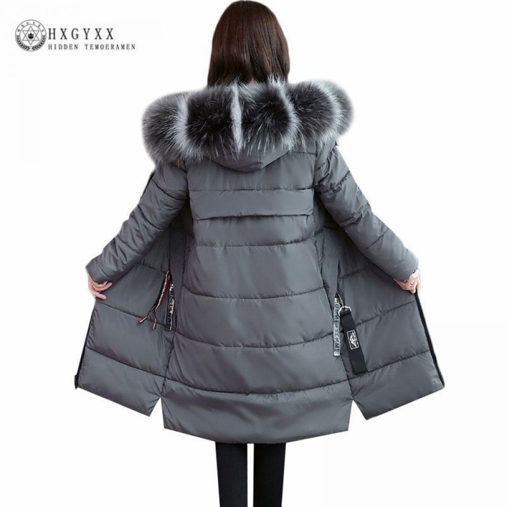e0c6ff16fa1 2018 6XL Plus Size Winter Coat Women Thick Hooded Parka Female Long Fur  Collar Down Cotton