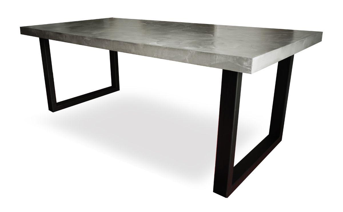Comment Faire Une Table En Béton Ciré place deco - mobilier beton cire sur mesure table beton