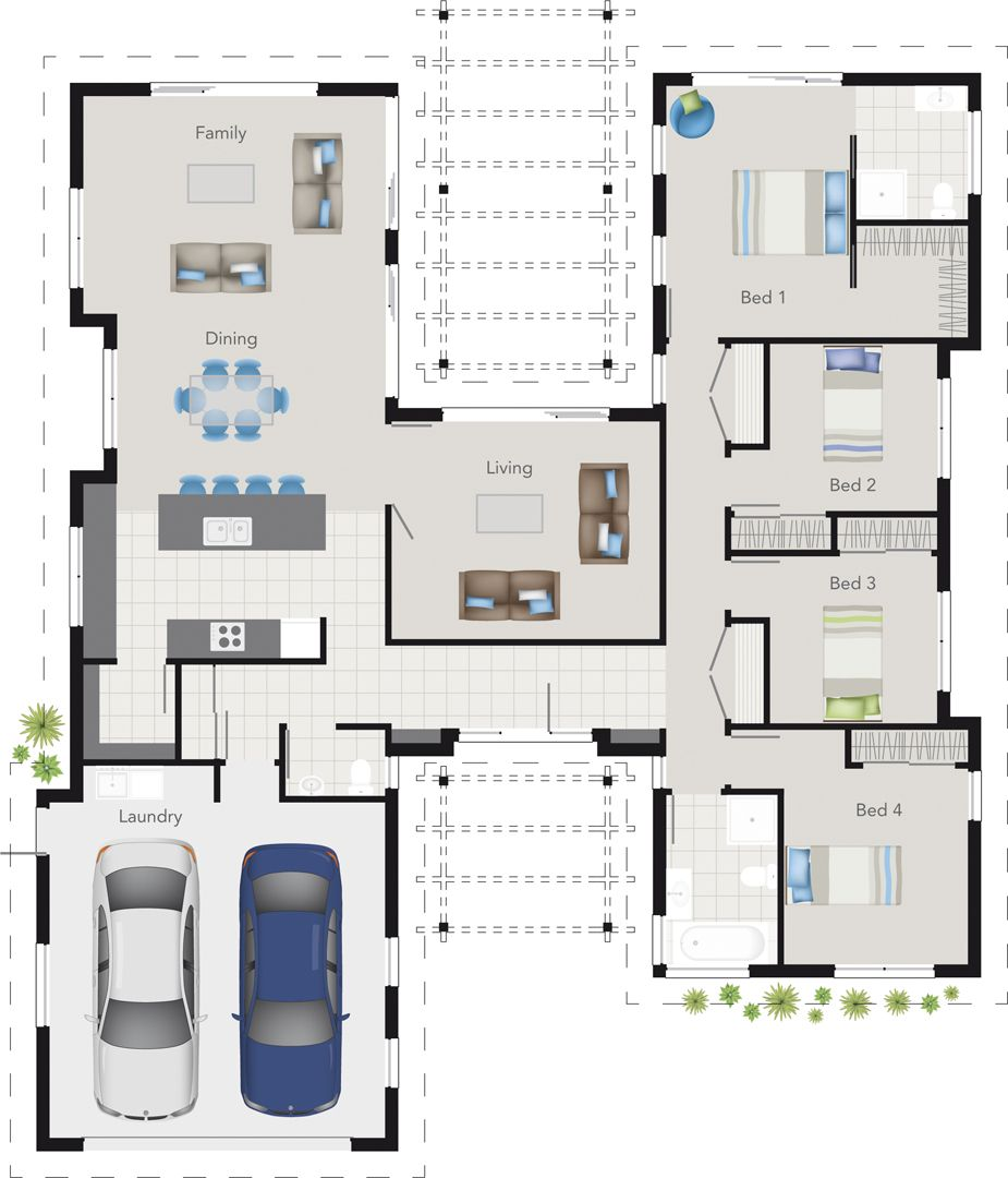 230sqm Example Dream House Plans Floor Plans House Blueprints